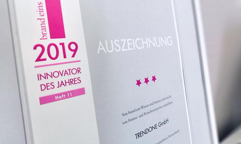 Innovator des Jahres 2019 TRENDONE
